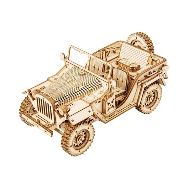 (Robotime)Golden Age-1:18 Military Jeep