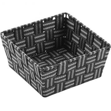 VERSA 方形編織收納籃(灰白19cm)