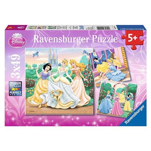 German Ravensburger Verbatim Puzzle Disney Princess Collection (3*49 pieces)