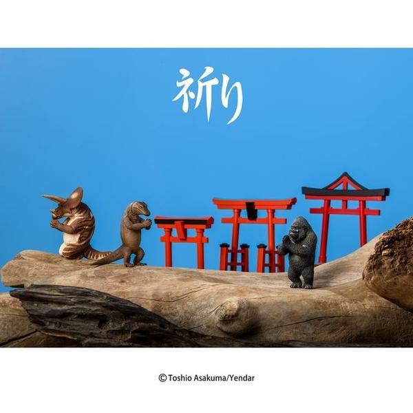(YENDAR)【Yendar】Animal Life Mount Fuji Torii-Pray 3 into the group