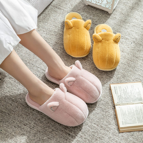 Ego life Indoor Indoor cat-shaped slippers keep warm, anti-slip - closed toes