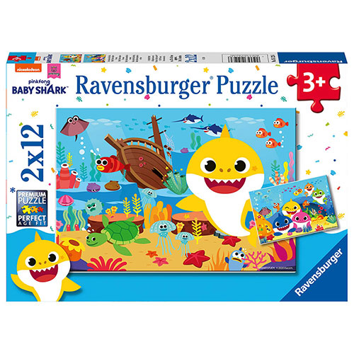 (Ravensburger)German Ravensburger Verbatim Puzzle Baby Shark (2*12 pieces)
