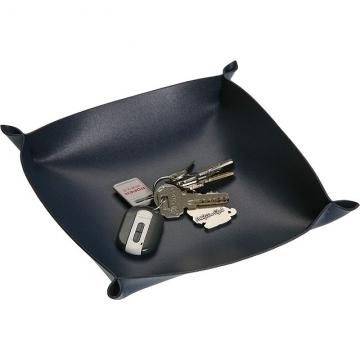 (Versa)Versa Leather accessories storage tray (Dark Blue)