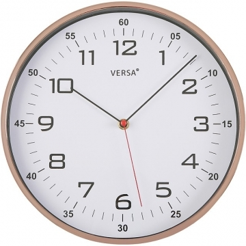 (VERSA)VERSA mirror bright wall clock (rose gold 30.5cm)
