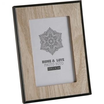 (VERSA)VERSA black border wooden photo frame (4x6 inches)
