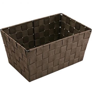 (VERSA)VERSA Rectangular Woven Storage Basket (Dark Brown 30cm)