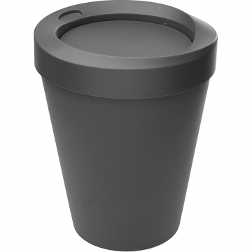 (VERSA)VERSA Swing Lid Trash Can (Black 9L)