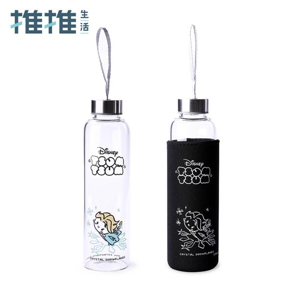 【推推生活】Tsum Tsum系列 玻璃水瓶艾莎款