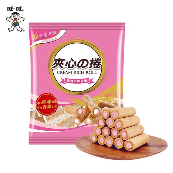 【Wangwang】Sandwich  Roll-Strawberry Flavor Egg Roll 185g