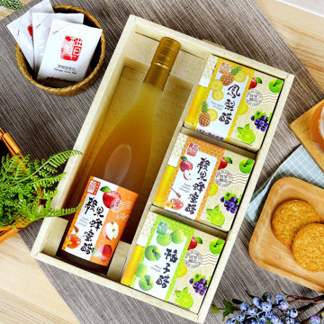 [Vinegar bucket] Happy fruit vinegar 4 in gift box set