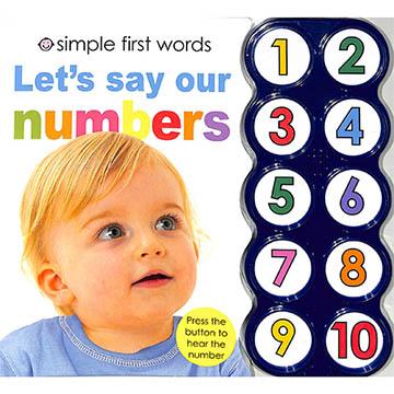 (Priddy Books US)Simple First Word:Let's Say Our Numbers 一起唸數字 硬頁有聲書(美國版)(外文書)