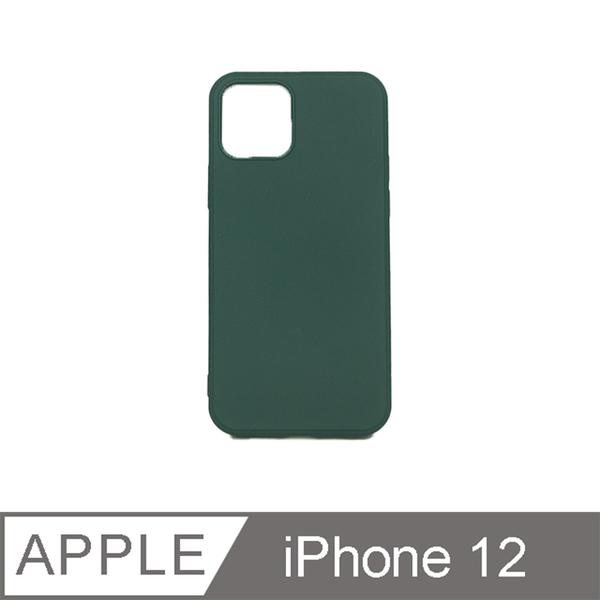 【iPhone 12 6.1吋】矽膠動感系列防摔手機保護殼 - 暗夜綠