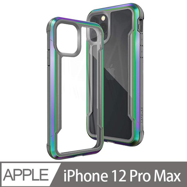X-Doria DEFENSE SHIELD iPhone 12 Pro Max 6.7吋 刀鋒極盾耐撞擊防摔手機殼-繽紛虹