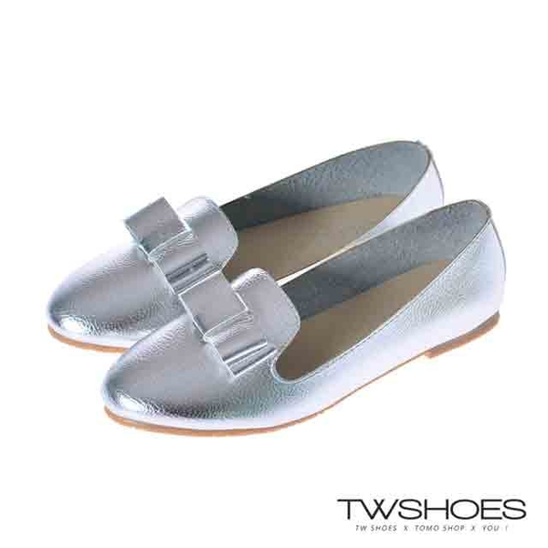 (TW Shoes)Taiwan shoes net ‧ super soft leather bow decorative pointed shoes [K130B3542]