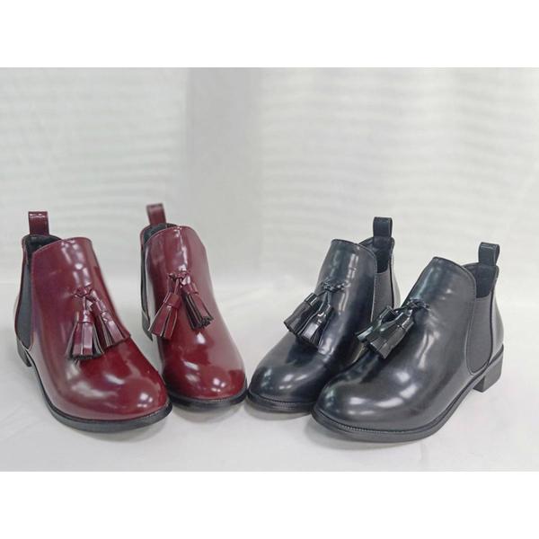 (TW Shoes)Taiwan shoe net ‧ patent leather tassel low heel boots [K137BF1018]