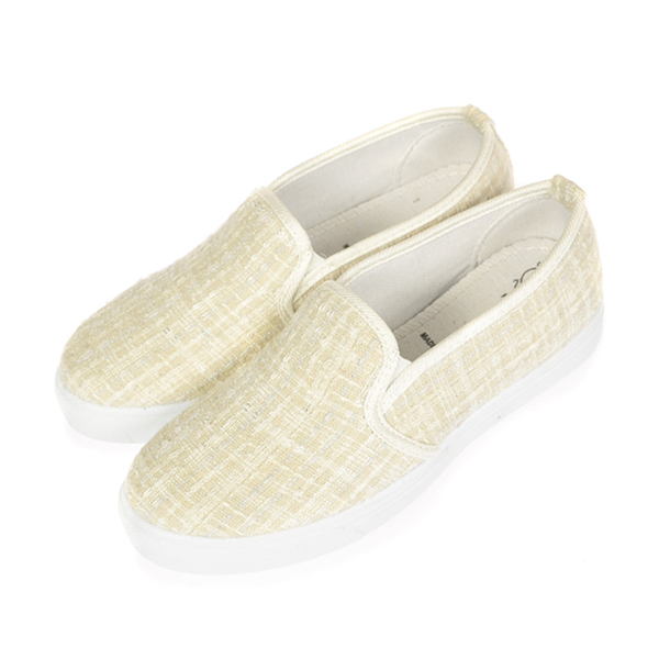 (TW Shoes)Taiwan shoes net ‧ mixed woven wool flat casual lazy shoes [K160A3226]
