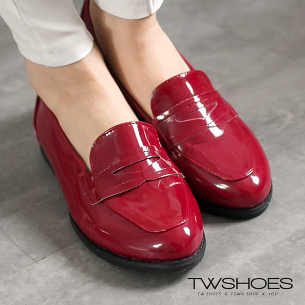 (TW Shoes)Taiwan shoe net ‧ bright leather low heel gentleman shoes ‧ color [K160B1919]