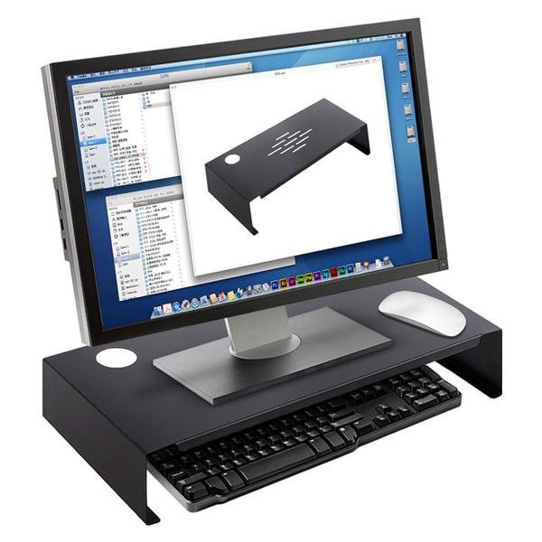 空間大師-螢幕架-鍵盤收納架-鋼鐵系列-消光黑