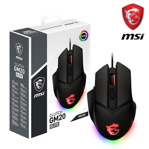 MSI CLUTCH GM20 ELITE 電競滑鼠