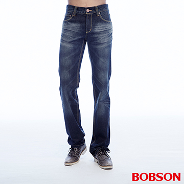 (BOBSON)[BOBSON] Men cats should be white-washed straight jeans (1785-52)