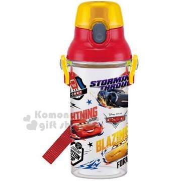 小禮堂 迪士尼 閃電麥坤 日製直飲式水壺《紅.角色》480ml.水瓶.兒童水壺