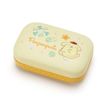 "Small Auditorium Pudding Dog Mini Square Leather Hard Shell Storage Box ""Yellow"" Storage Box. Jewelry Box. New Spring Life"