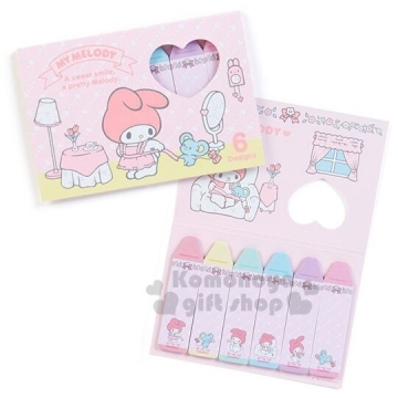 """Small Auditorium Melody Japanese-made Crayon-shaped Self-adhesive Label """"Pink. Dress Up"""" N times stickers. Label stickers. Bookmark stickers. Retro School"""
