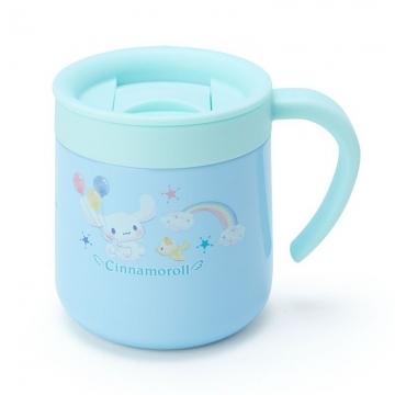 小禮堂 大耳狗 單耳不鏽鋼附蓋保溫杯《淡藍》300ml.保冷杯.茶杯