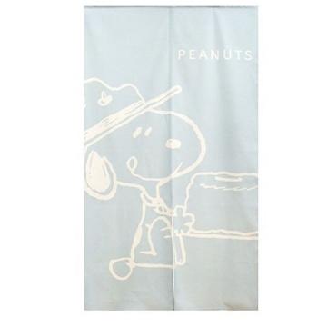 小禮堂 史努比 日製 棉麻長門簾 窗簾 遮光簾 85x150cm (米綠 蛋糕)