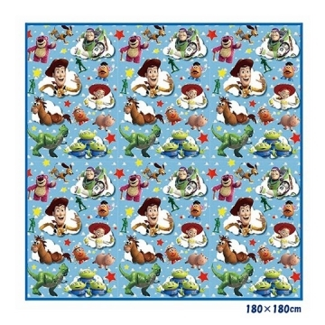 Small Auditorium Disney Toy Story Day-made Picnic Mat for 4-5 People Beach Mat Waterproof Mat 180x180cm (Blue Clouds)