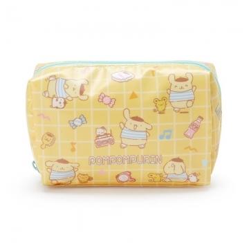 小禮堂 布丁狗 方形防水化妝包 盥洗包 小物包 隨身收納包 (黃藍 滿版)