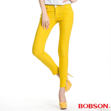 (BOBSON)[] BOBSON strong female models stretch pants color (yellow 8087-31)