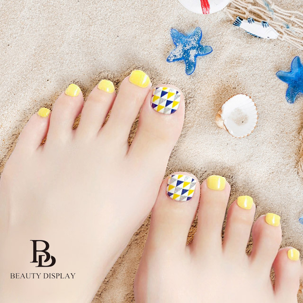 BD Super Service Sticker Painted Phototherapy Manicure Sheet-Foot Foot Edition Lemon Special