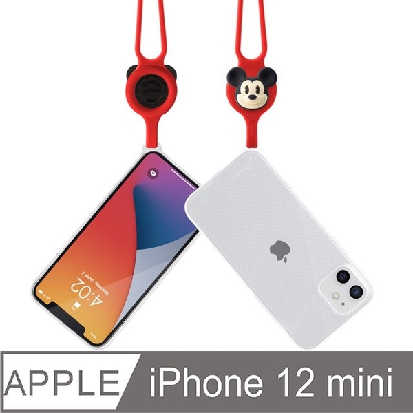 Bone / neck hanging iPhone 12 mini transparent phone case-Mickey
