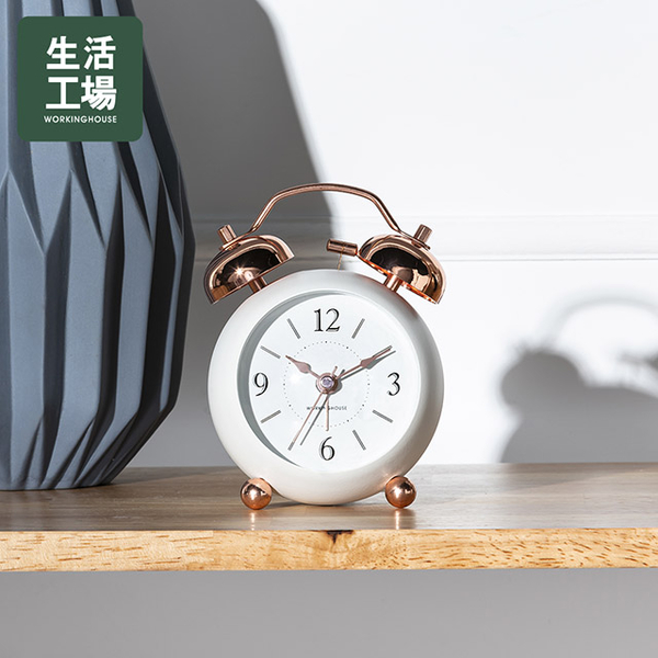 Rose Liguang Binaural Alarm Clock-White-Life Workshop