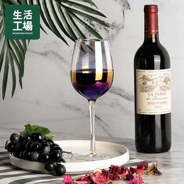 Slightly drunk red wine glass 400ML-Life Workshop