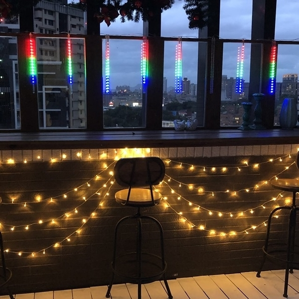 Meteor shower color LED Christmas/Christmas/store balcony decoration lights/string lights/party/decoration/lighting [Athena]