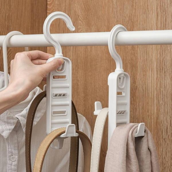 [WAWAWA] Japanese non-printed style adjustable 360°rotating bag storage hook rack/2 into the group