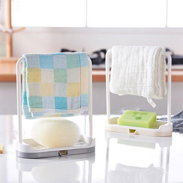 Creative towel cloth rack sponge drain rack 2 pcs