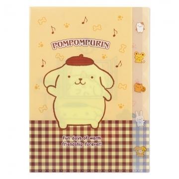 "Small auditorium pudding dog Japanese-made L-shaped classification folder ""A4. Yellow brown. Check pattern"" folder. L folder. File folder"