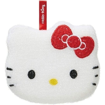 Small hall Hello Kitty styling cleaning sponge vegetable melon cloth pot brush dishwashing brush (red and white face)