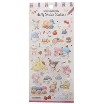 Small Auditorium Sanrio Big Collection Day-made Transparent Sticker Hot Stamping Sticker Handbook Sticker (Pink Rice Star)