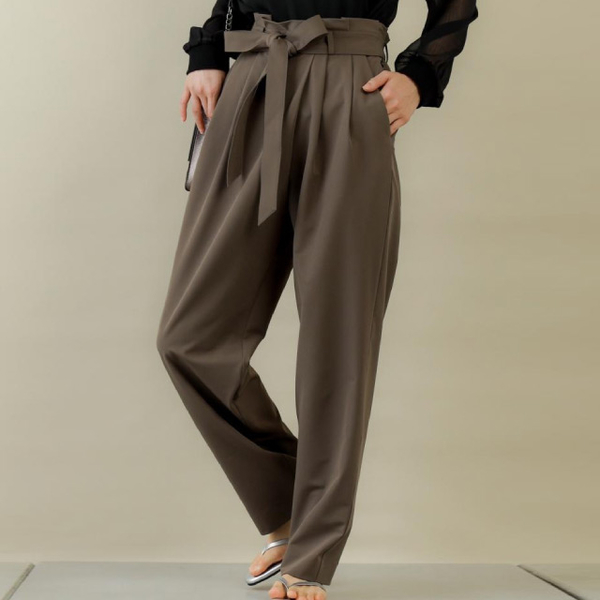 [COLONY 2139] กางเกงขายาวยางยืด พร้อมเชือกผูกเอว