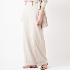 [COLONY 2139]  กางเกงผ้าลินิน แต่งพับปลายกางเกง