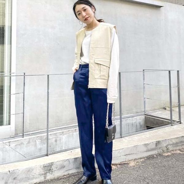 [WHO's WHO gallery] กางเกงขายาว ผ้าซาตินมันเงา