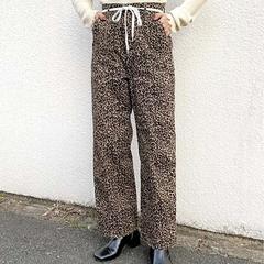 [WHO's WHO gallery]  กางเกงขายาวพร้อมเชือกผูกเอว (ลายเสือ)