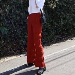 [EMODA] กางเกงขายาวผ้าอัดพลีท