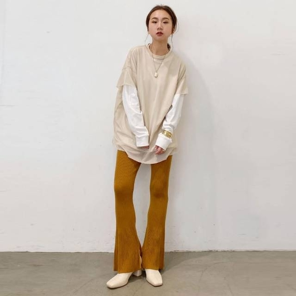 [Ungrid] กางเกงผ้าผ้าอัดพลีท ฟรีไซส์