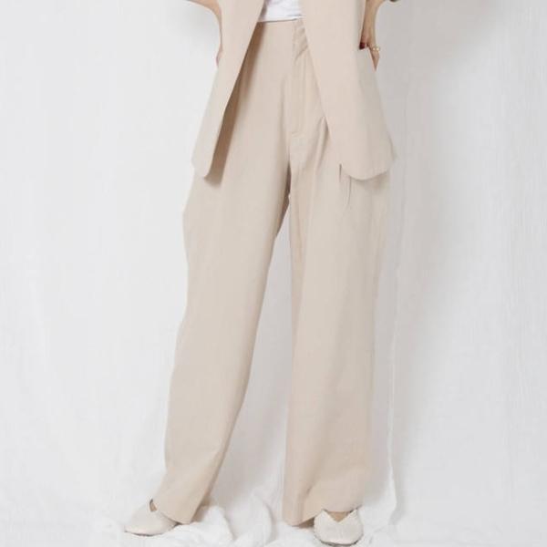[Ungrid] กางเกงขากว้างผ้าไหมผสม