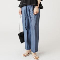 [mystic] กางเกงขายาวผ้ามันเงา